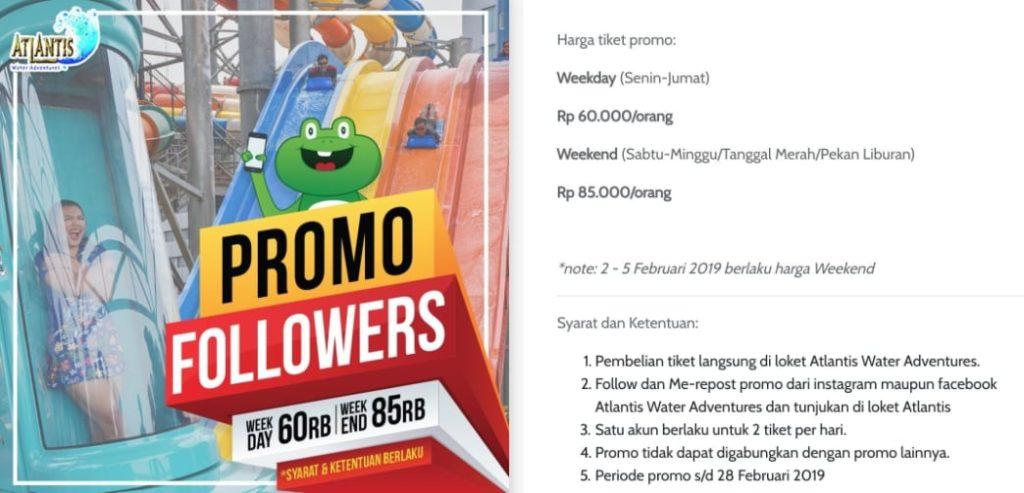 Harga Promo Ancol Followers Sosmed
