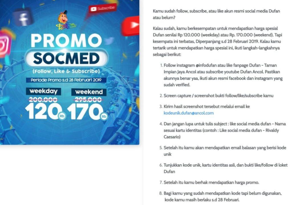 Harga Promo Ancol Somsed Dufan