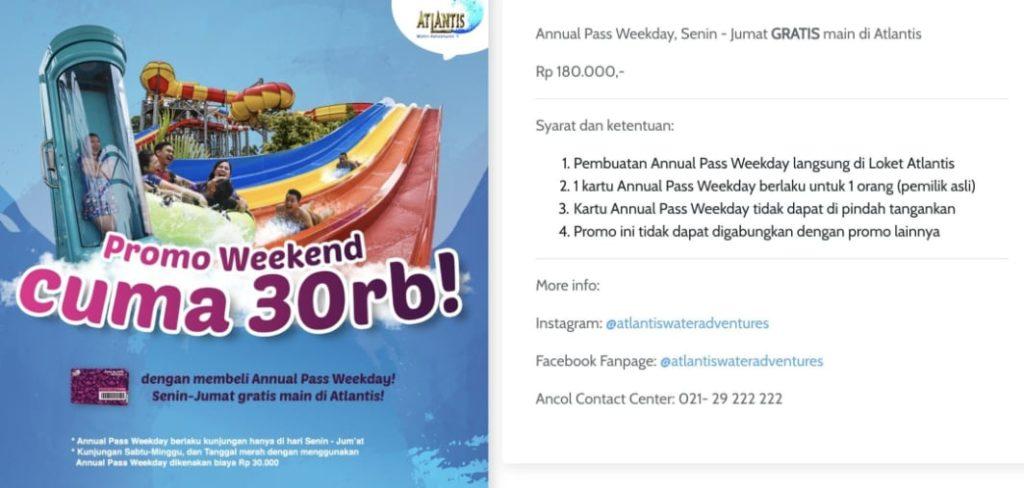 Harga Promo Ancol Weekend