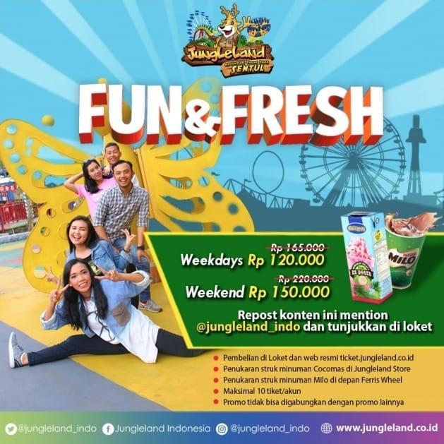 Harga Promo Tiket Jungleland 2019 Fun Fresh