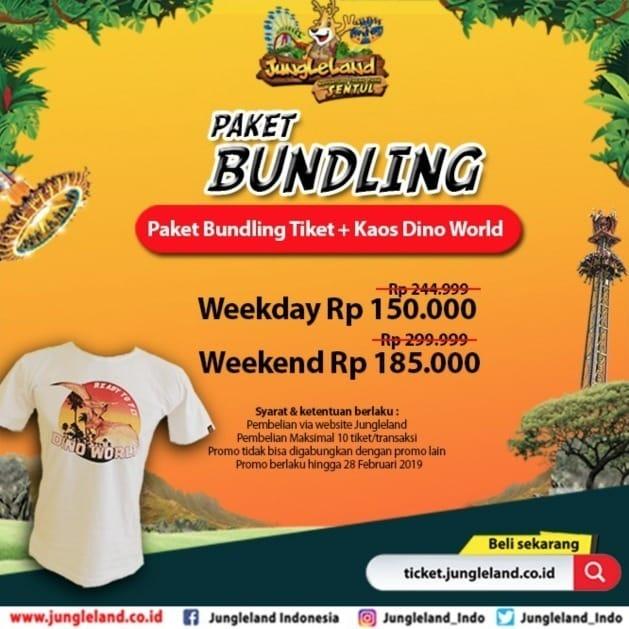 Harga Promo Tiket Jungleland 2019 Kaos Dino