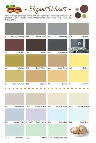 Katalog Warna Cat Tembok Paragon Interior