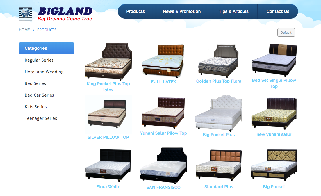Kasur Spring Bed Bigland