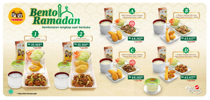 Menu Hoka Hoka Bento Edisi Ramadhan Hargamenu.net
