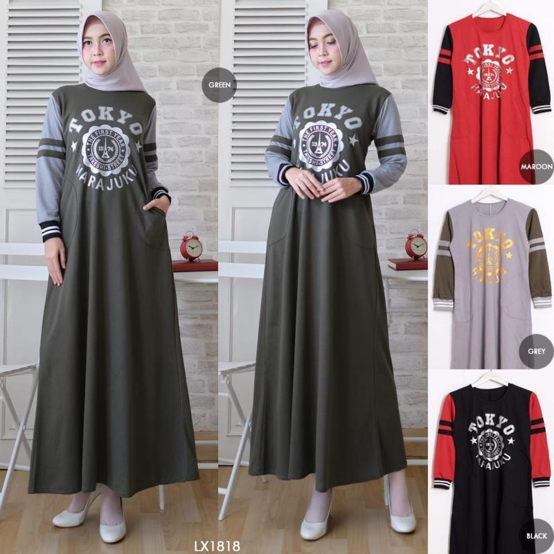 Model Baju Gamis untuk Kuliah debusana.com
