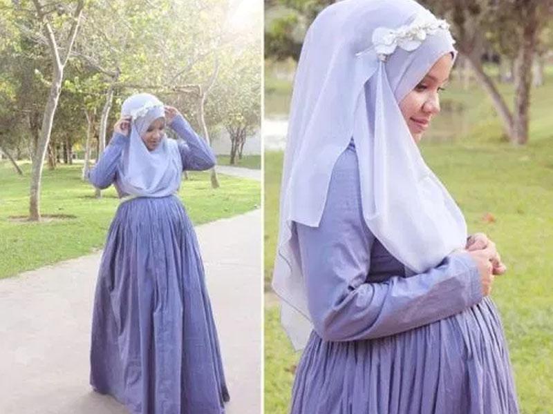 Model Gamis untuk Ibu Hamil ruangmuslimah.co