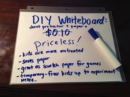 Paperlaminate Whiteboard cuppacocoa.com