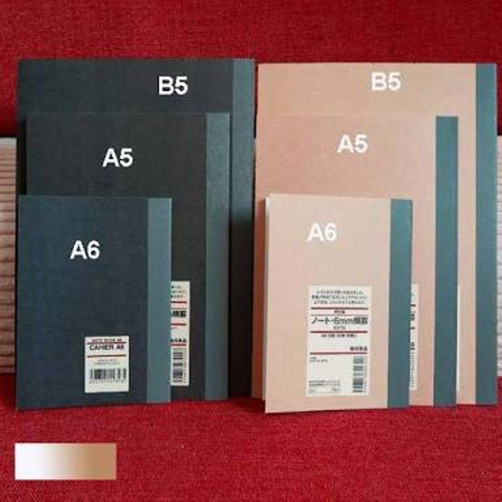 Perbedaan ukuran beberapa buku tulis