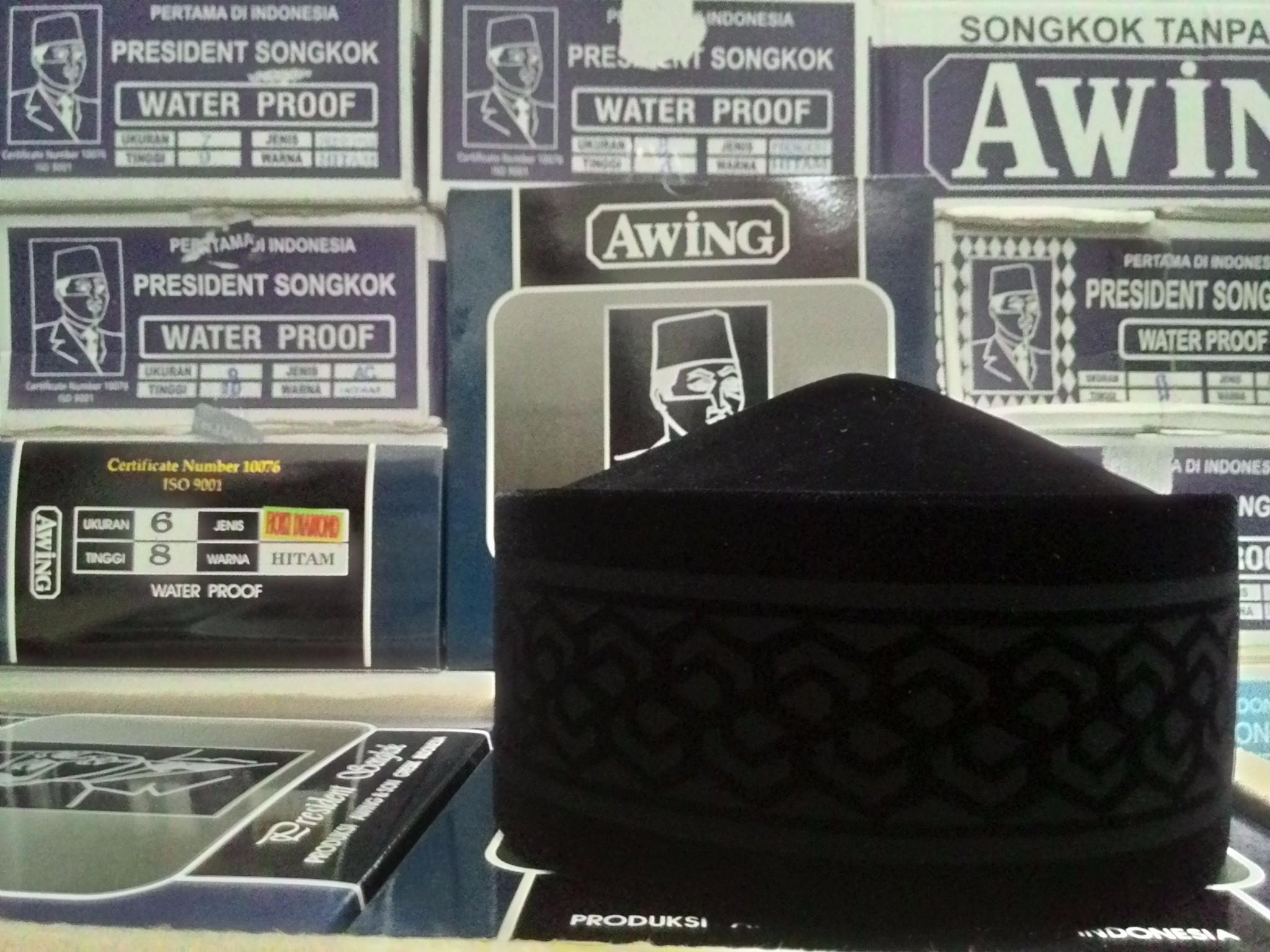Songkok Awing salah satu merk songkok terbaik tokopedia.com