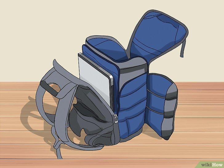 hanya isi tas dengan barang yang diperlukan