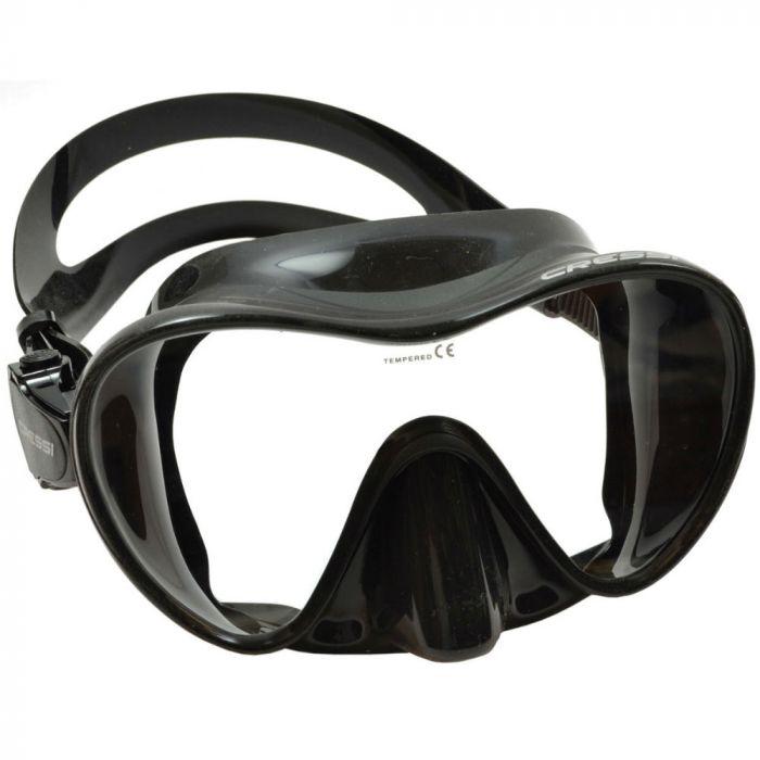 kacamata renang Mask Cressi F1 Silicone Frameless Black amazon.com