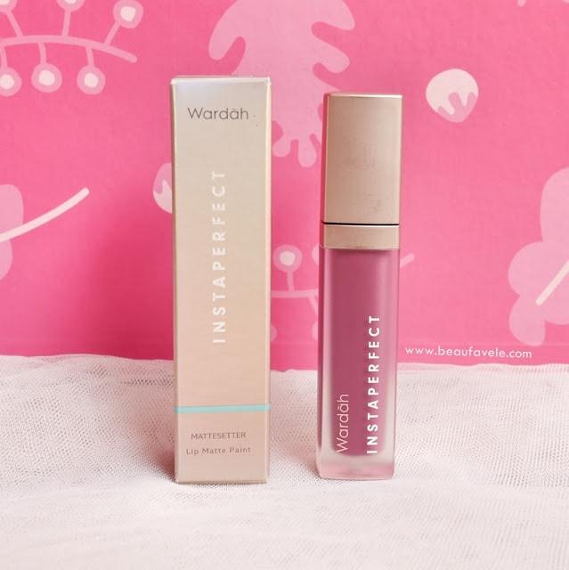 Wardah Instaperfect Mattesetter lip matte paint shade chic