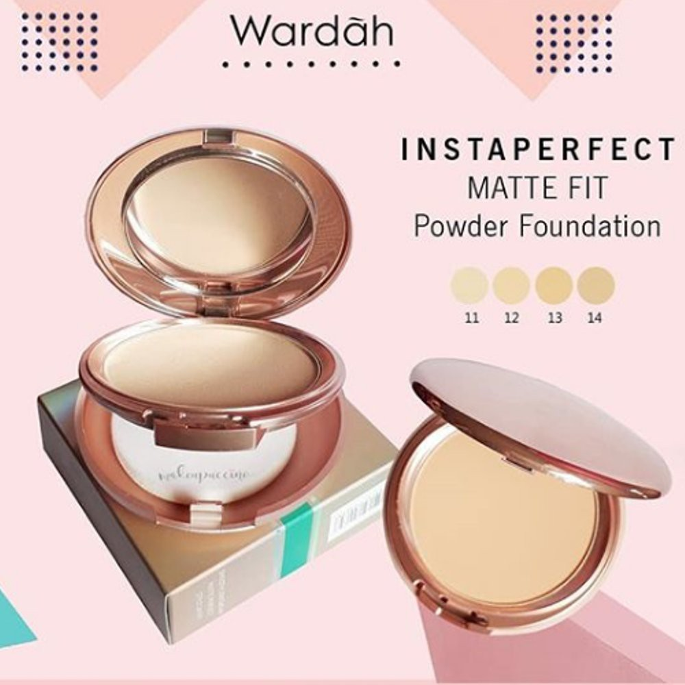 wardah instaperfect matte fit powder foundation